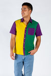 Mardi Gras colors Hawaiian Shirt
