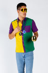 Mardi Gras Hawaiian party shirt