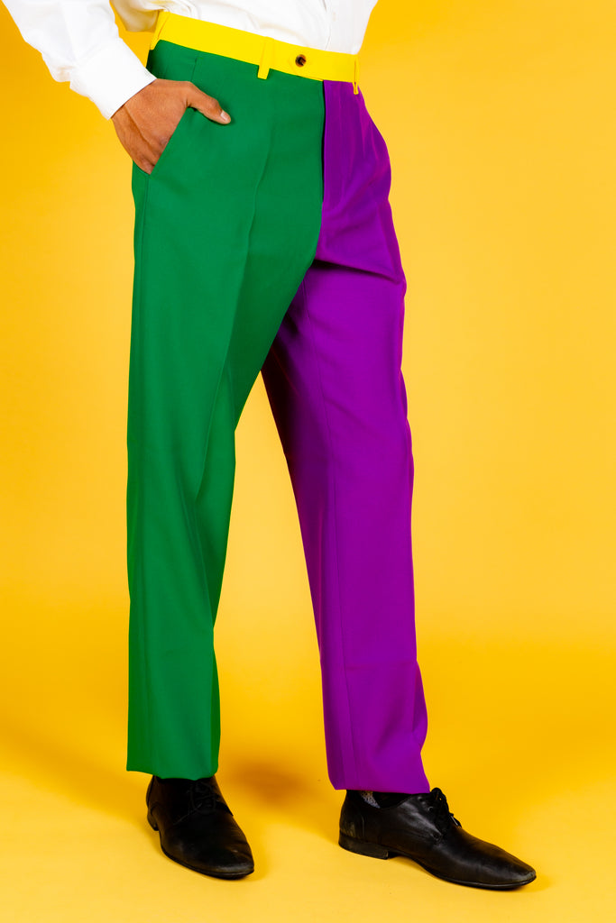 The Gumbo No. 5 | Color Blocked Mardi Gras Pants