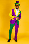 Men's Multicolor Mardi Gras Suit
