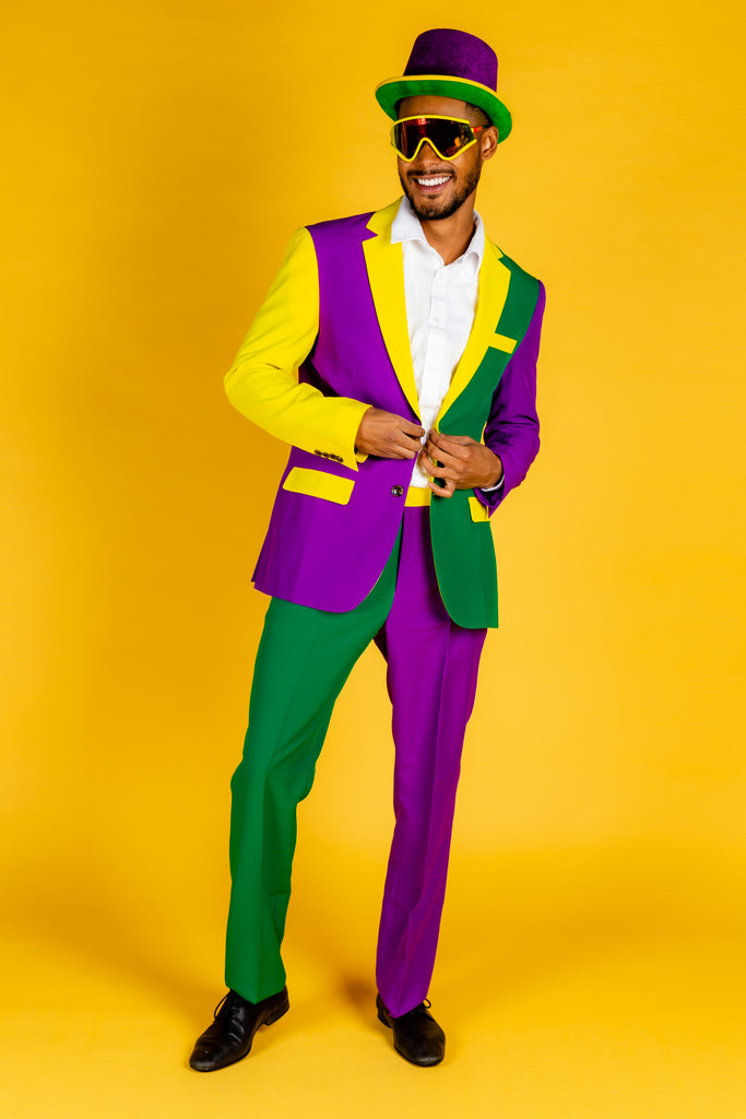 The Gumbo No. 5 | Color Blocked Mardi Gras Suit