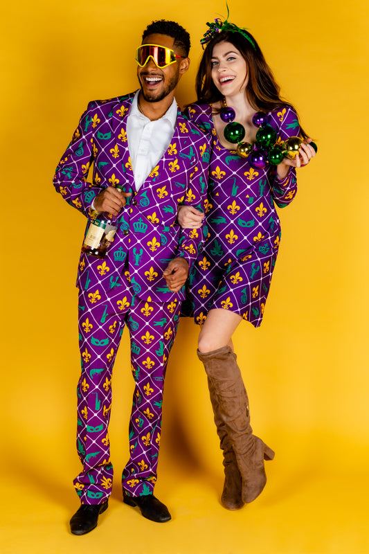matching mardi gras outfits for couples