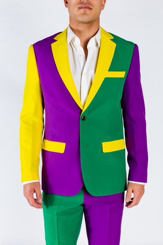 Mardi Gras Colored Suit Jacket