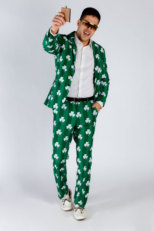 Bold Green Holiday Dress Suit