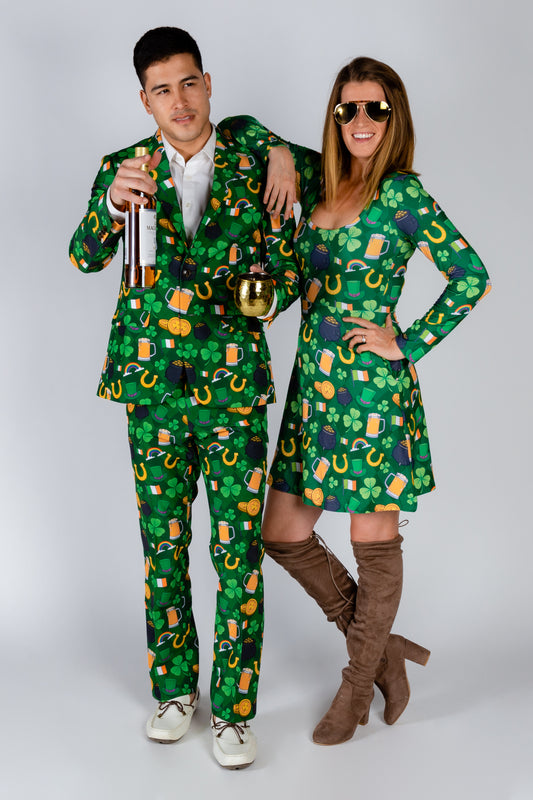 Ireland Green Holiday Patterned Suit