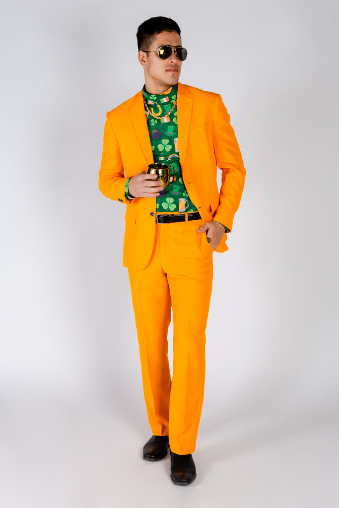 The Dreamsicle | Solid Orange Flame Suit Blazer