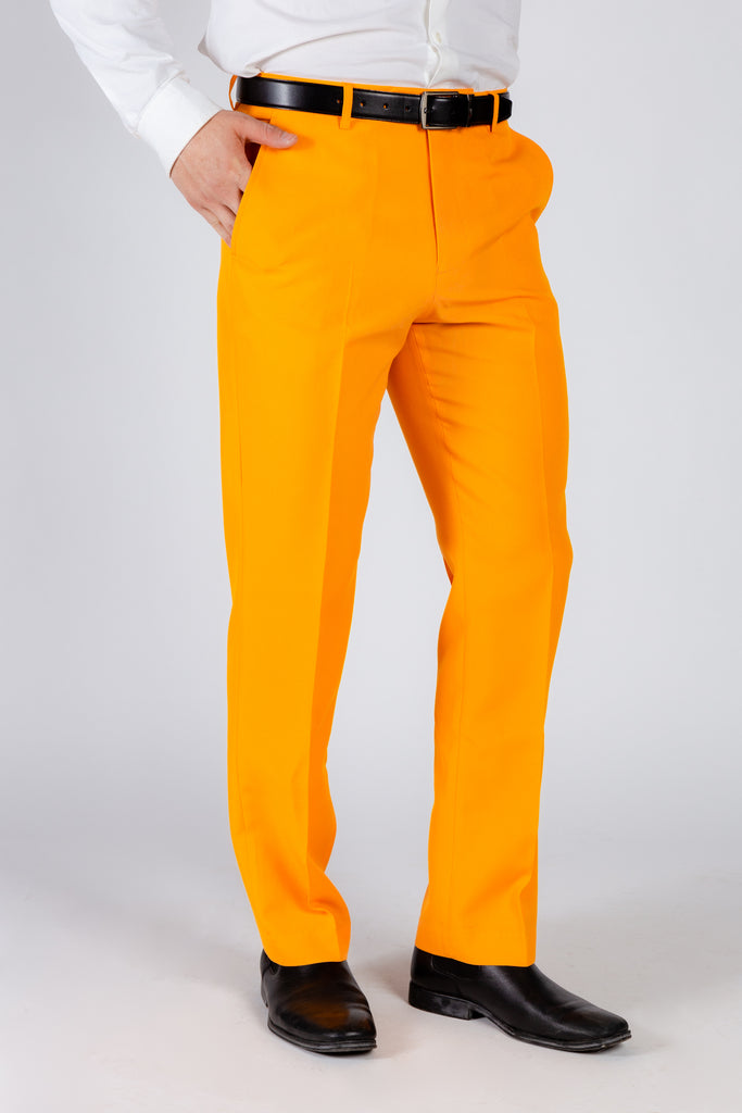 The Dreamsicle | Solid Orange Flame Suit Pants