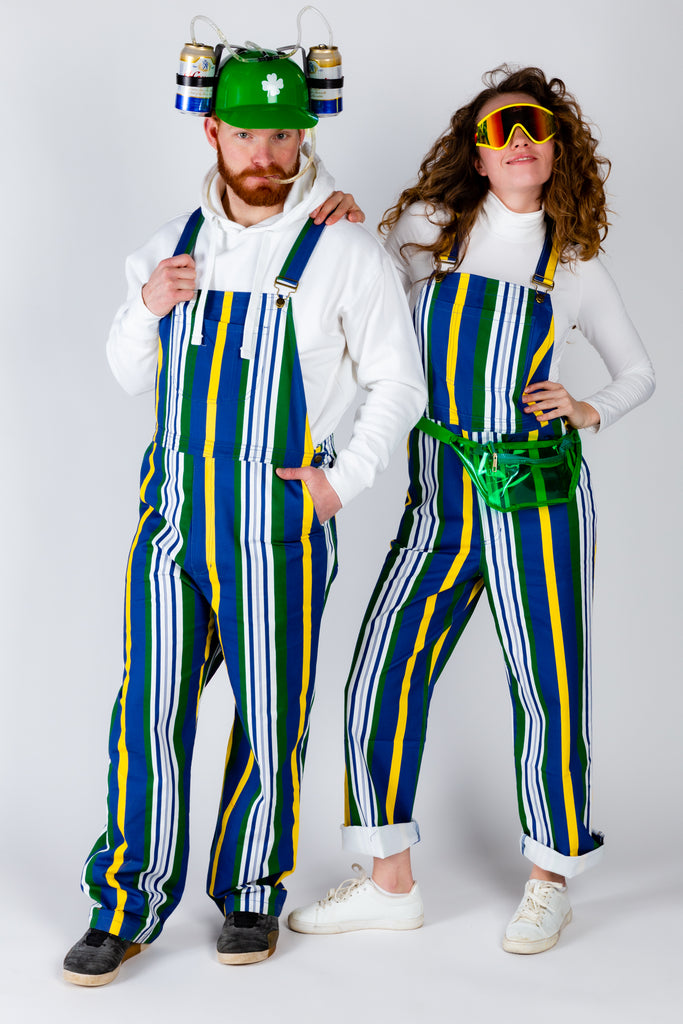 The Dubliner | Retro Striped Vintage Overalls