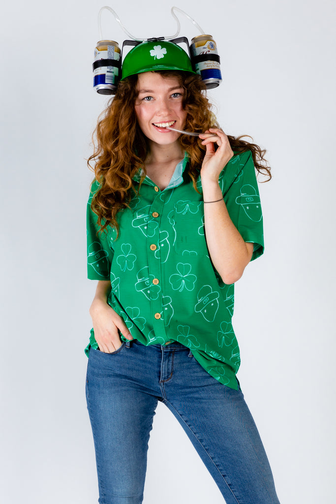 The Where Da Gold At? | Womens St. Patrick'S Day Hawaiian Shirt