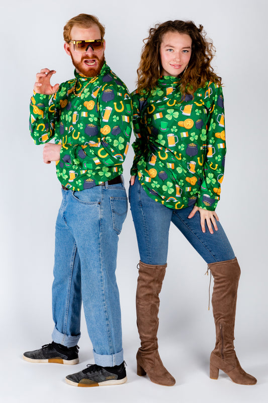 Couples matching st. patty's turtleneck
