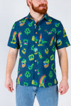 St. Patrick's Day button up party shirt