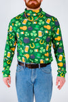St. Patty's printed turtleneck