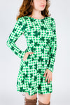 St. Patrick's day shamrock dress