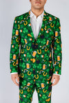 Guys Saint Patrick's Pattern Suit Jacket