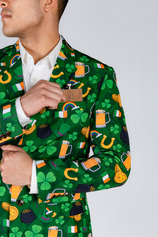 Green and Orange Beer Blazer