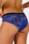 Denim print cheeky underwear