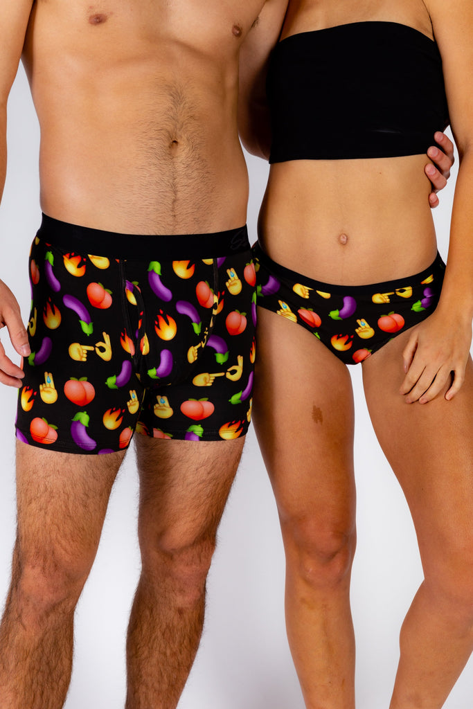 You Up? | Matching Emoji Boxer & Cheeky Pack