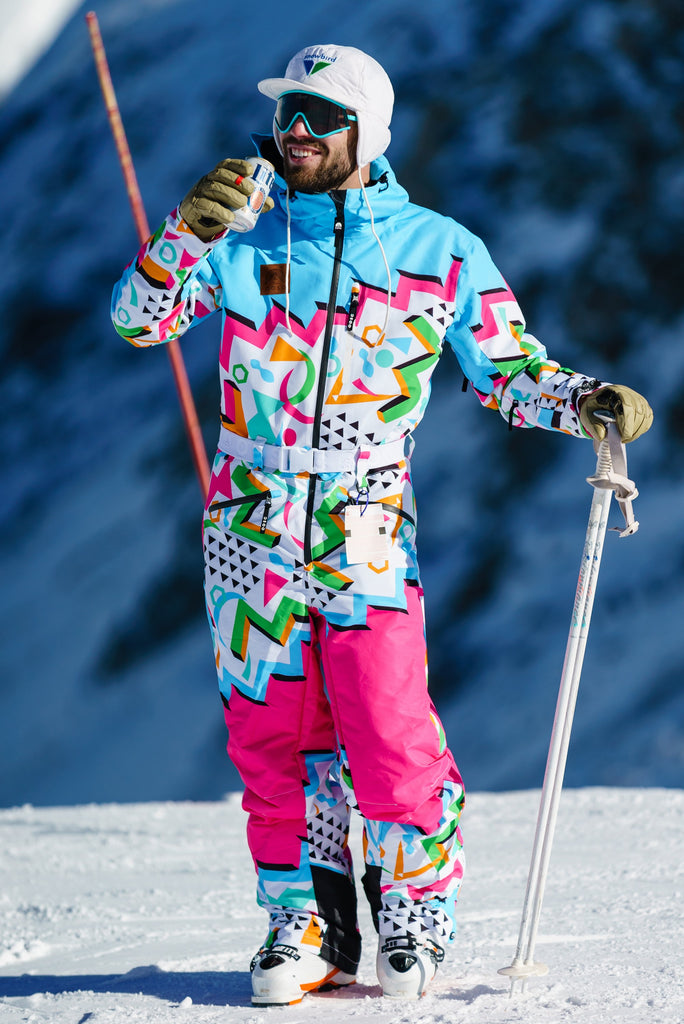 The Geodisiac | Mens Retro Neon Ski Suit