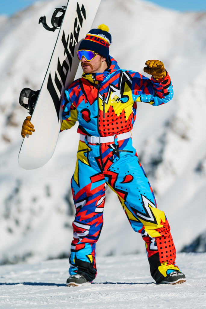 The Fresh Prints Onesie V2 | Men's 80s Print Ski Suit