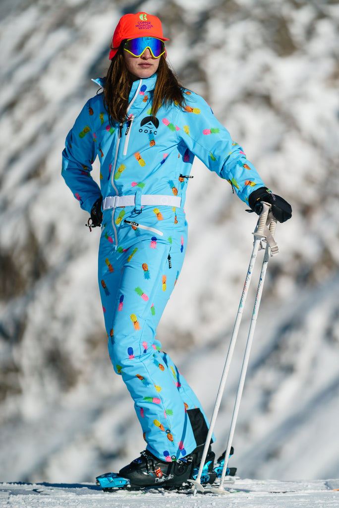 The Club Colada | Women's Neon Retro Ski Suit