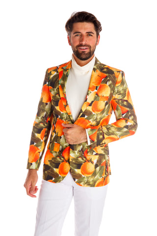 Men's peach emoji blazer