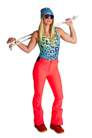 neon pink oneill ski pants for women