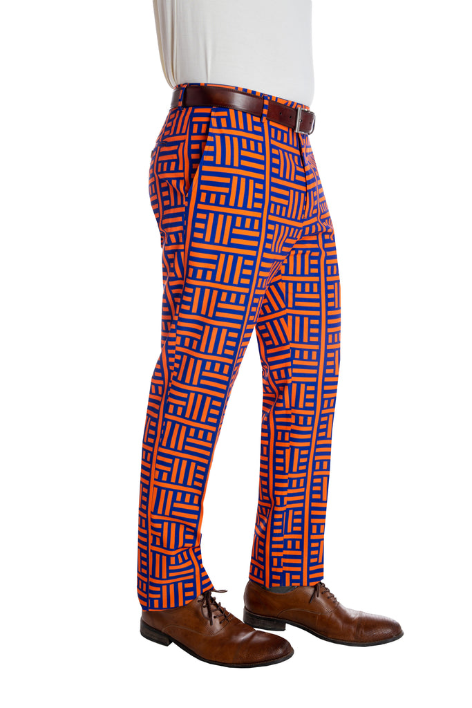 The Maze Daze | Orange And Blue Maze Pants