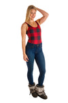 buffalo check womens one piece