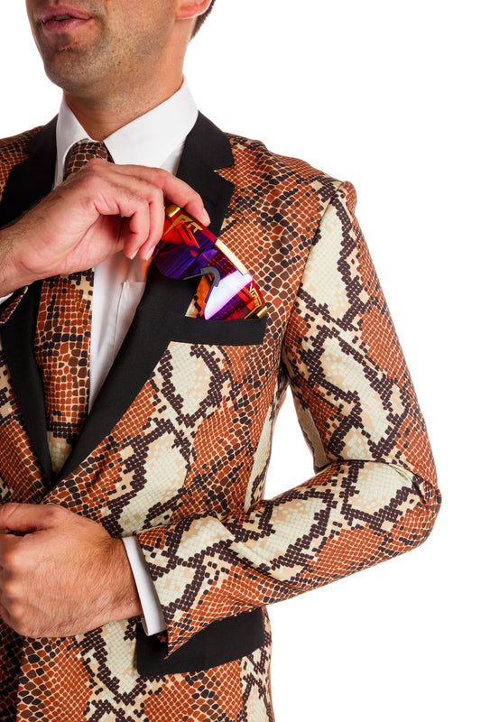 The Rattlesnakes & Condoms | Snakeskin New Years Eve Suit