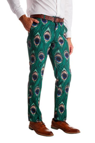 The Peacock Player | Peacock Print Pants