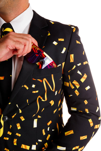 The Gold Eruption | Gold Confetti New Years Eve Blazer