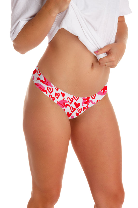 Women's valentines day thong