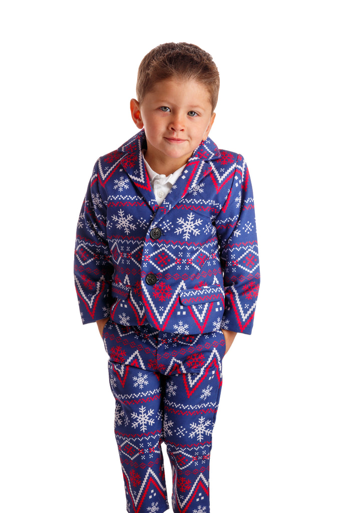 The Navy Nordic | Navy Fair Isle Toddler Holiday Suit