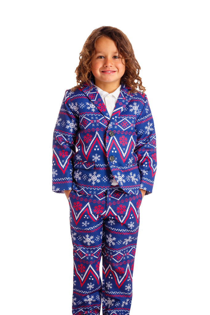 The Navy Nordic | Navy Fair Isle Boys Holiday Suit