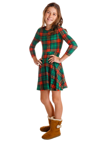 Red and Green Plaid Christmas Dress