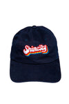 Navy shinesty retro dad hat