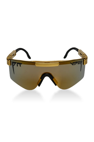 39371614193 The Gold Standards Gold Pit Viper Sunglasses Polarized