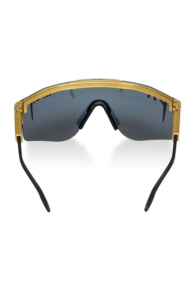 6af2704137 Black   Gold Polarized Pit Viper Sunglasses