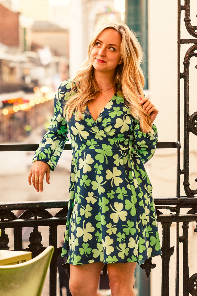 Wrapped In Charm | Women's St. Paddy's Wrap Dress