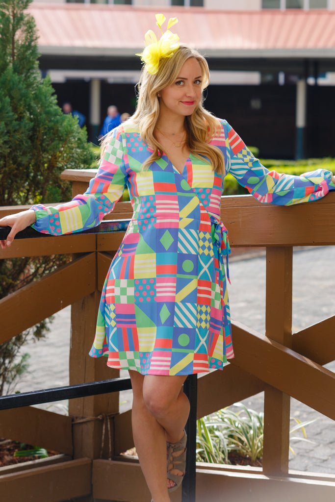 The Secretariat | Derby Flag Wrap Dress