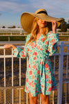 The Green 'N' Roses | Derby Wrap Dress