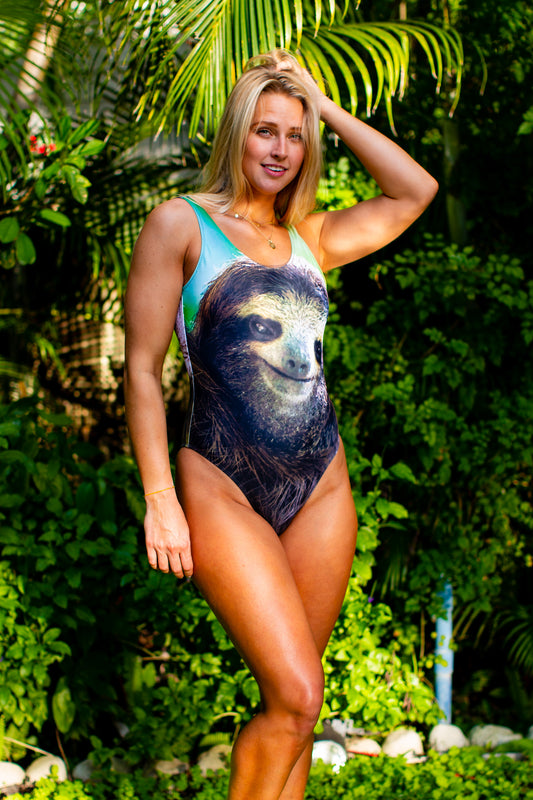 One piece swimsuit for women jungle pattern
