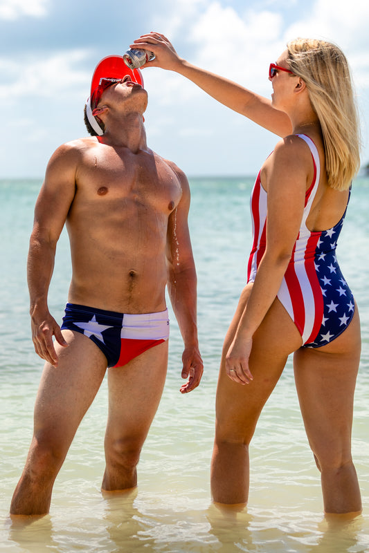 Texas flag swim brief
