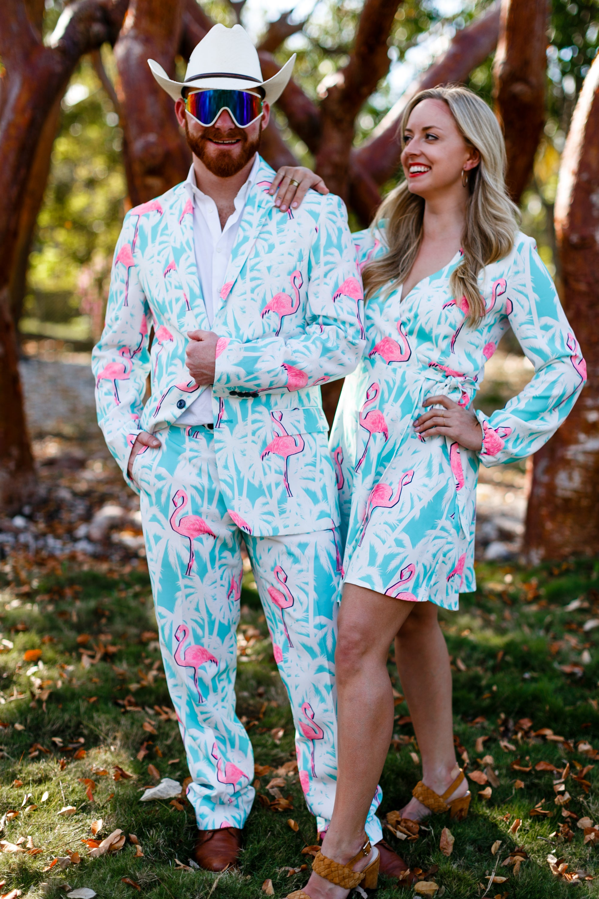 El Flamenco Tropical Flamingo Blazer