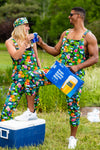 bud light hawaiian pajamaralls