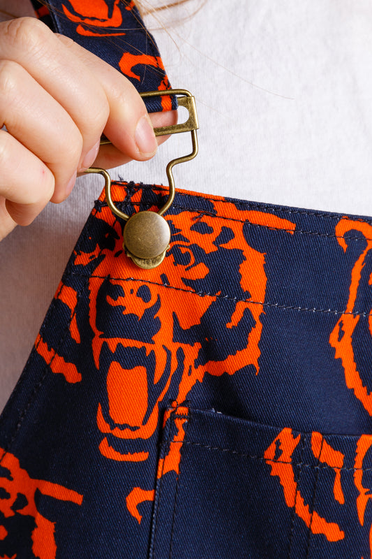 Front clasp Chicago bears women's overalls