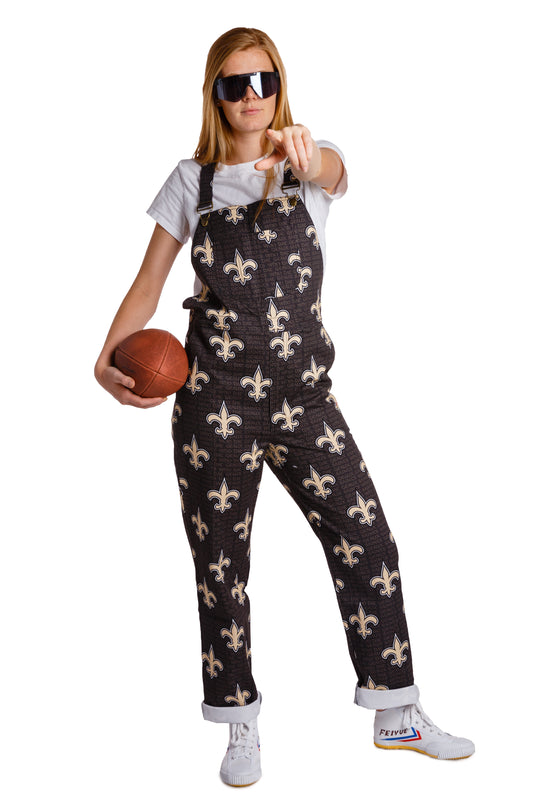 New Orleans saints ladies overalls