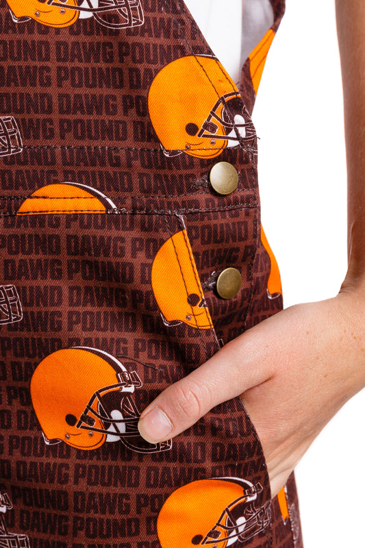 Cleveland browns overalls with pockets