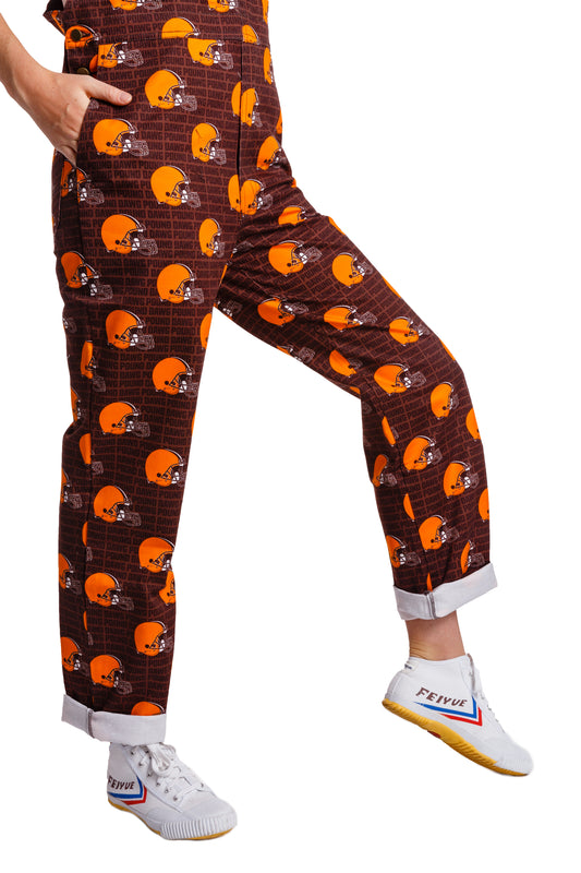 NFL gameday Cleveland browns women's overalls