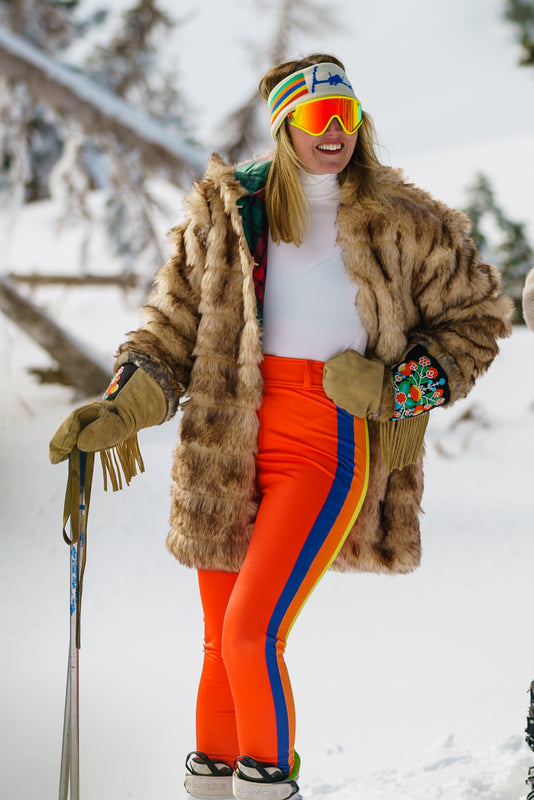 Red Means Go | Retro Ski Pants